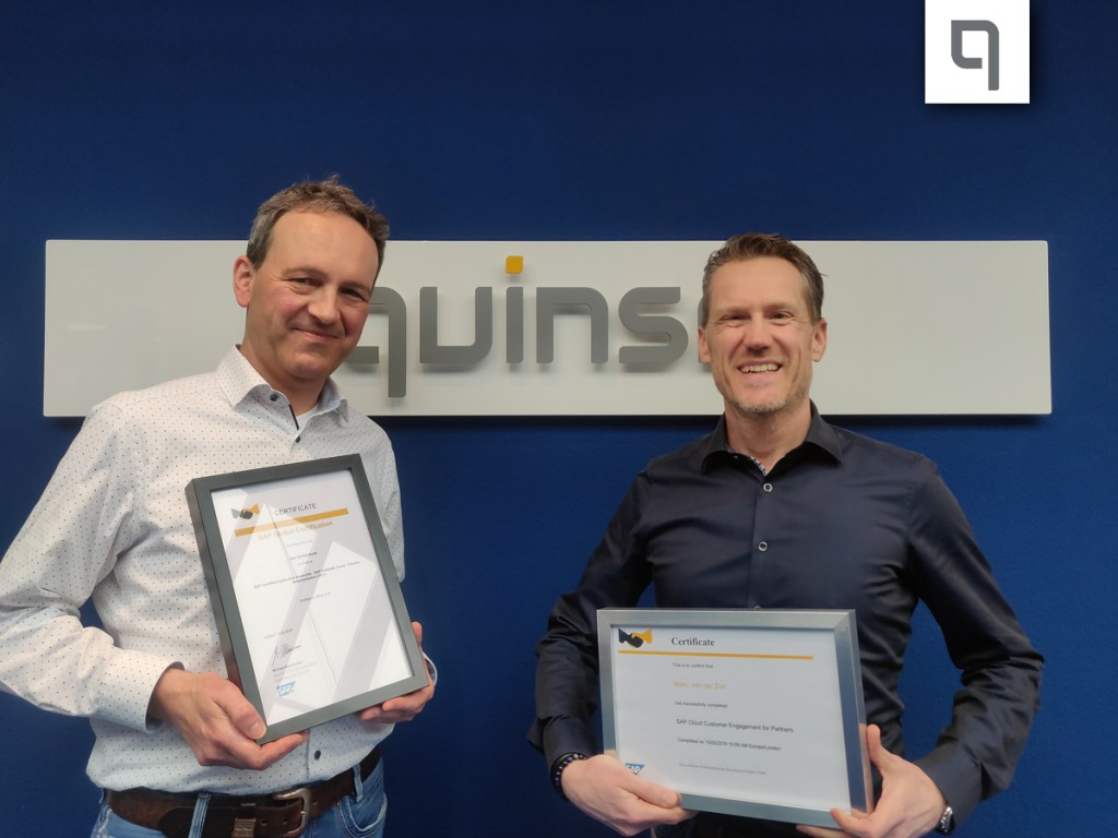 Certificaat S/4HANA: Quinso maakt uw bedrijf klaar voor de nieuwe digitale wereld