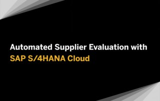 SAP S/4HANA Cloud for Manufacturing - Automated Supplier Evaluation - Quick Demo
