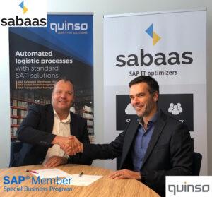 Quinso en Sabaas sluiten een SAP Special Business Member